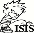 Calvin Pissing on Isis T-Shirt