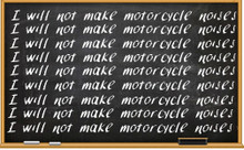 I will not make motorcycle noises shirt