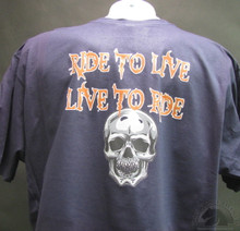 Ride To Live Live To Ride Biker T-Shirts
