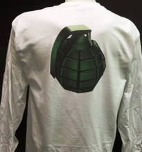 Grenade on a White shirt