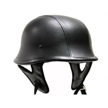 DOT German Leather Motorcycle Helmet