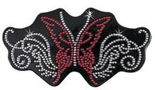 Red Sparkling Butterfly Rhinestone Helmet Patch