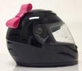 Pink Motorcycle Helmet Bow