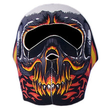 Red Evil Skull Neoprene Face Mask