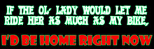 If the ol' lady would let me ride her as much as my bike, I'd be home right now Biker T-Shirt