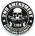 2nd Amendment Motorcycle Helmet Sticker