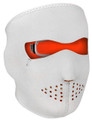 Orange/ White Neoprene Face Mask
