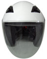 WHITE MOTORCYCLE HELMET