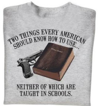 Two things every american should know how to use neither of which are taught in schools shirt