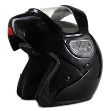 DOT Modular Full Face Black Snowmobile Helmet