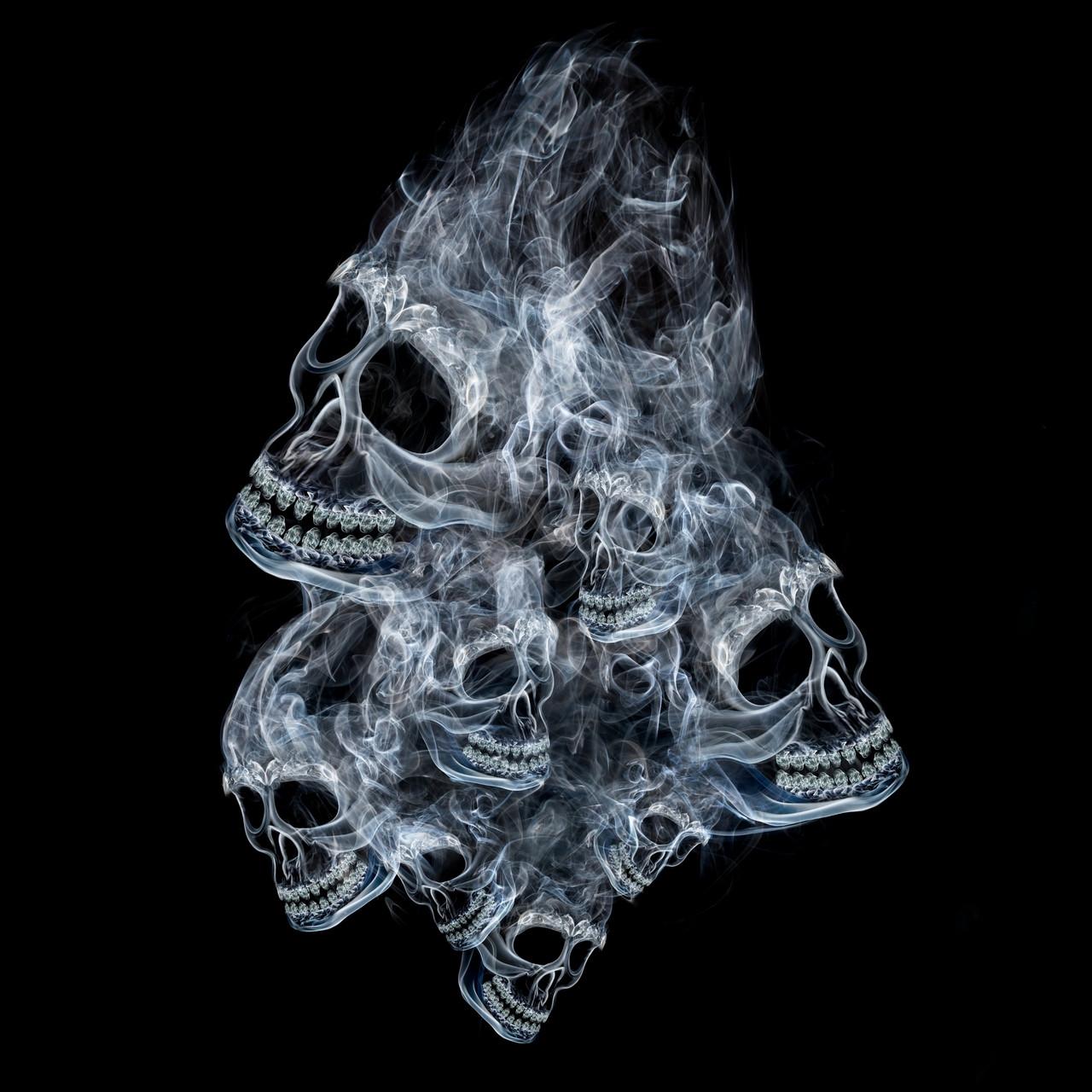 Smoke Skulls Shirt And Motorcycle Shirts