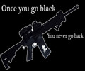 Once You Go Black You Never Go Back T-Shirt