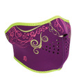 Purple Venetian Half Neoprene Face Mask