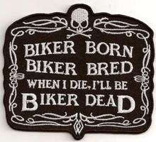 Biker Born Patch