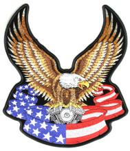 Eagle Banner American Patch