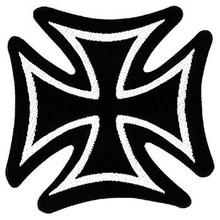 Skinny Iron Cross Patch