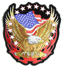 Eagle Flag and Stars Patch