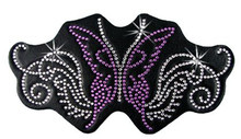 Purple Sparkling Butterfly Rhinestone Helmet Patch
