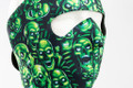 Green Skulls Neoprene Face Mask