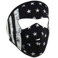 Youth Black And White Flag  Neoprene Face Mask