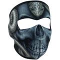 WNFM415 Snake Skull Neoprene Face Mask