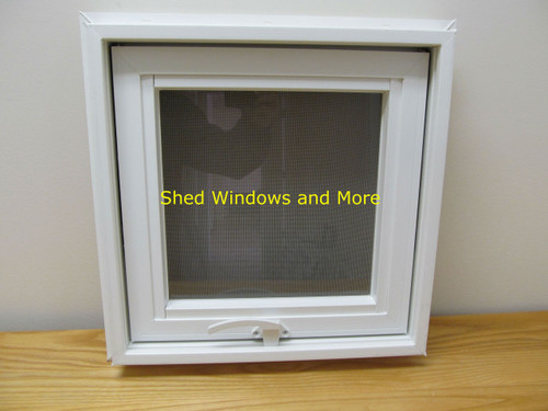 16 x 16 awning insulated glass vinyl window shed for Insulated vinyl windows