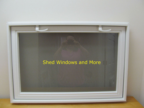 36 x 24 insulated glass pane vinyl window shed windows for Vinyl insulated windows