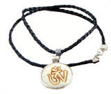 Black Leather Twisted Necklace Cord