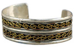 Brass and Silver Bracelet