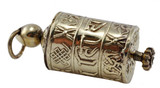Brass Prayer Wheel Pendant