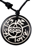 Buddha Eyes Symbol Yak Bone Necklace