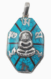 Buddha Turquoise Sterling Silver Pendant