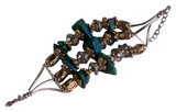 Copper and Tibetan Silver Turquoise Bracelet