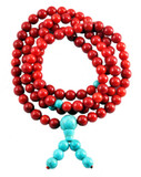 Coral and Turquoise Mala