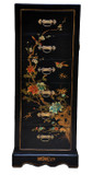 Dragon Leather Covered Chinese Chest of Drawers Set