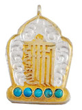 Gold and Sterling Silver Kalachakra Mantra Prayer Box Ghau