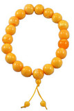 Huge Beeswax Yellow Prayer Beads- 20 mm