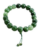 Huge Green Beeswax Mala- 19 Beads- 20 mm