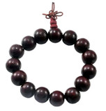 Large Rosewood Beaded Wrist Mala