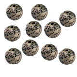 Lotus Seed Beads, Set of 10 Beads, 10 mm