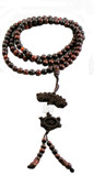 Multi-Colored Wooden 7 mm Prayer Bead Mala- 108 Beads