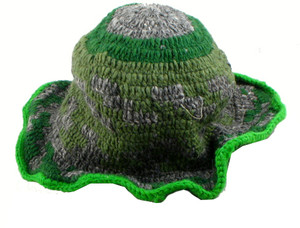 Hemp Hat, Gray and Green