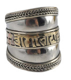 Om Mani Padme Hum Three Metal Ring