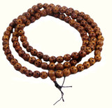 Peachwood Star Design Mala- 108 Beads