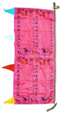 Pink Extra-Large Mantra Prayer Flag