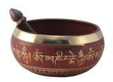 Red 6.5 Inch Singing Bowl