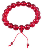 Red Beeswax Huge Mala