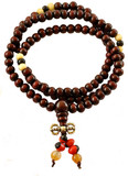 Rosewood Dorje Mala on an Elastic Cord