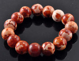 Rust-Colored Agate Wrist Mala