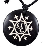 Star Om Symbol Yak Bone Necklace